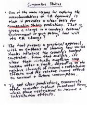 Econ 345 Comparative Statics Notes