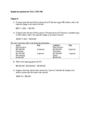 Sample test questions for Test 2 FINA 465 2011 revised