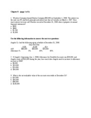 Sample Test Questions Ch 8 JR2-1