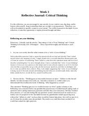 Reflective Journal: Critical Thinking.docx