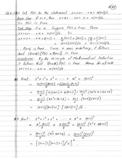 homework 4 solutions on Introduction to Advanced math