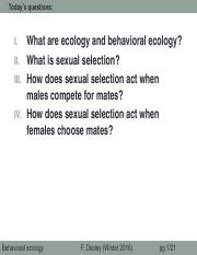 26_Behavioral ecology & sexual selection