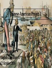 Chinese-American Project 1 .pptx