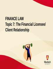 Topic 7 Licensee  Client Relationship.pptx