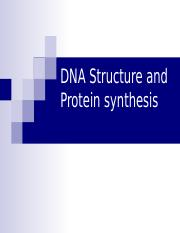 Lesson 1 - DNA Structure, Synthesis of Proteins.ppt