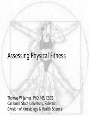 06-WK 5 Assessing Physical Fitness (instructor).ppt