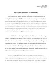 Making a difference written comm
