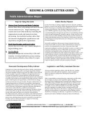 Public Administration-Resume and Cover Letter GUIDE 2017.pdf ...