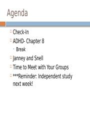 Agenda.Janey and Snell