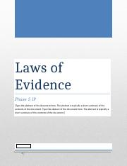Phase 5 IP laws of evidence.docx