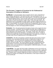 The Necessary Categories of Equations for tMathematical Description of Problems in Mechanics