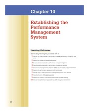 Robbins Chap 10 Establishing the Performance Management System