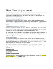 Checking Account Info ZB