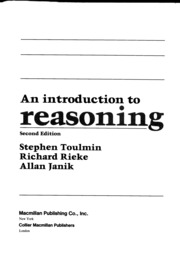 Phil 12 - Toulmin Reading -intro to reasoning