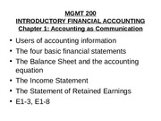 Mgmt 200 Spring 2010 Chap 1 Financial Statements.ppt
