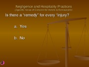 Chapter 6 - Hospitality Negligence  Powerpoint