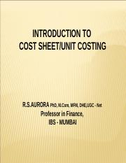 2. Cost Sheet.ppt