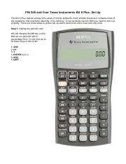 1 Setting Up Your Calculator (1)