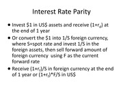 PPT for Interest Rate Parity