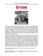 Session 12 - Brose Group Case Study