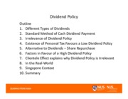 s)Dividend Policy
