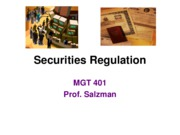 J11 MGT 401 Securities Regulation