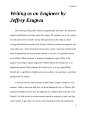 Writing as an Engineer by Jeffrey Ezugwu