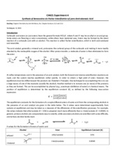 S2015_CH421_Lab 04_Synthesis of Benzocaine_Lab