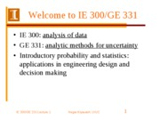 GE 331-Lecture 1