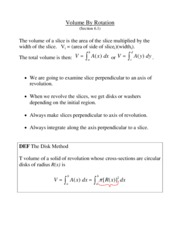L11 - Volume Calculation by the Method of Rotation