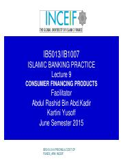 IB5013 LN 9 CONSUMER FINANCING PRODUCTS_ARK inceif.pdf