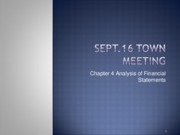 Sept. 16 Pre Town Meeting