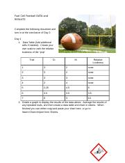2 Honors Fuel Cell Football DATA and RESULTS - Amen Alexander
