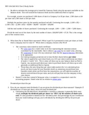 BUS  506 Fall 2015 Test 2 Study Guide