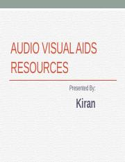 Audio Visual AIDS Resources.pptx