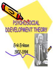 3- PSYCHOSOCIAL DEVELOPMENT