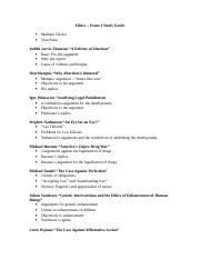 Ethics study guide 3.doc