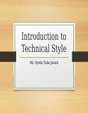Introduction Technical style.pptx