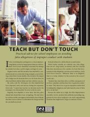 TeachButDontTouch