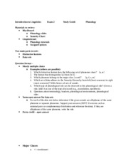 Intro to Linguistics Study Guide Test 2