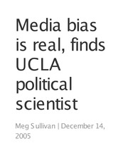 Humanities 161_Barry_Lecture Notes on Media Bias