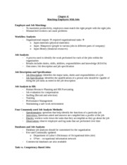 Chapter 4 Matching Employees with Jobs Notes