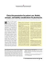 ASHP+Clinical+Documentation+2007