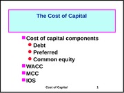 07 Cost of Capital