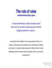 week 14 - The role of rules (1)