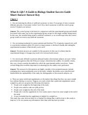Student Success Guide Biology Answer Key.doc