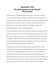 The Best Business in the World.docx
