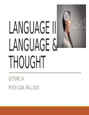 lecture14 - language2 - language and thought