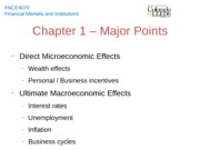 Chapter 1 - Major Points
