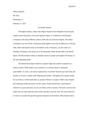 Indian Burial Hymn essay